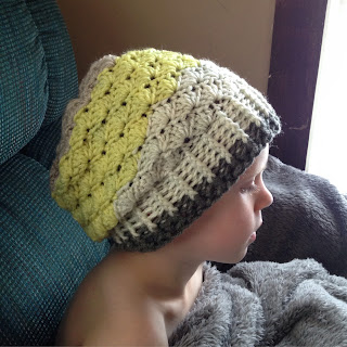 Crochet Hat Pattern For 6 Year Old : Annas Crochet Spot: Simple Shells Slouchy Beanie