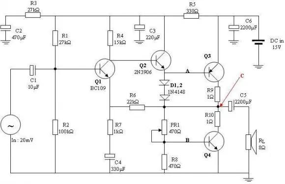 Phân tích mạch khuyếch đại âm thanh cơ bản dùng BJT