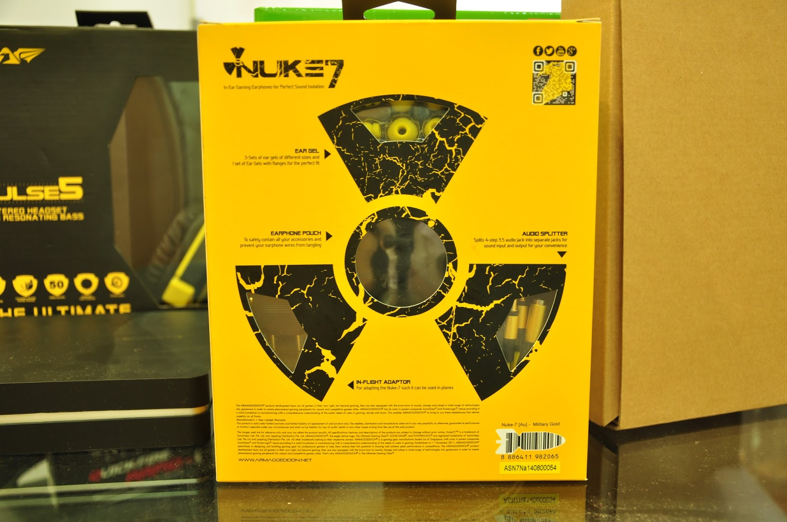 KENYSL com: Armaggeddon Nuke 7 Gaming Earphones Review