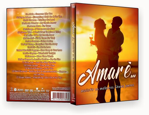 CAPA  – Amor É… É Assistir Os Melhores Shows Juntos DVD-R OFICIAL