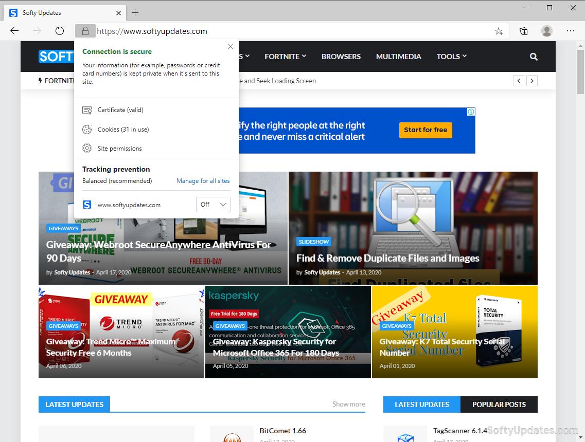 Microsoft Edge 81.0.416.58