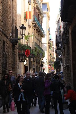 Montaca street near Picasso Museum