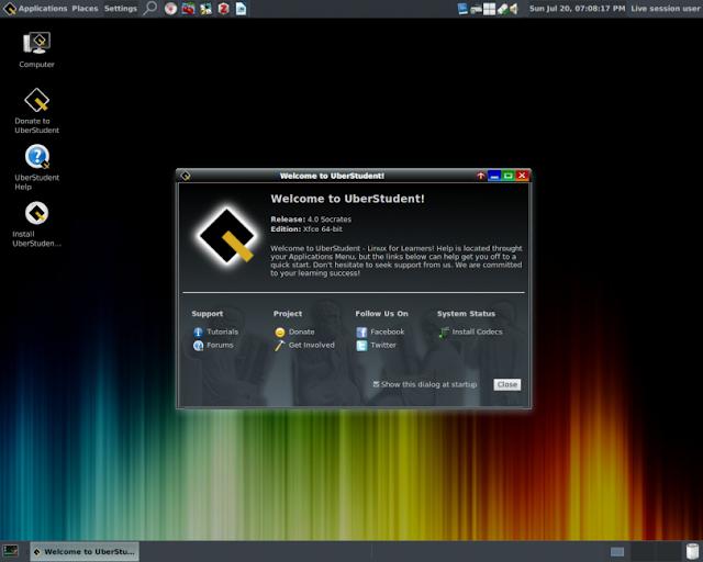 Conheça a distribuição GNU/Linux UberStudent conheça e faça o download!
