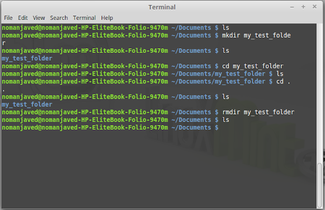 create and remove directories using terminal