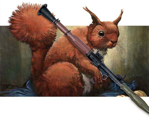 Funny Squirrels With Bazookas