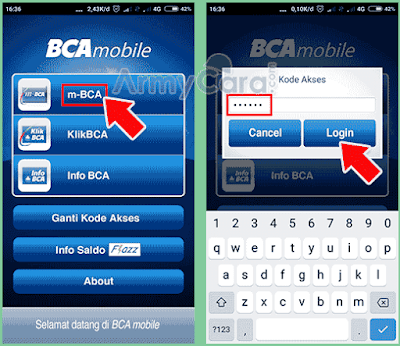 cara transfer ke virtual account bca via mobile banking