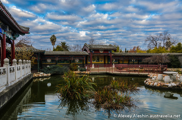 Chinese Garden with a pond