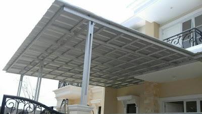 rangkuman desain kanopi baja ringan terbaru