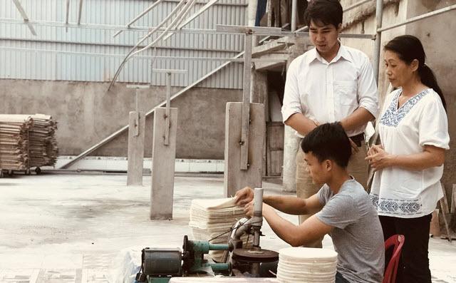 8X Hà Nam lập nghiệp thành công với bánh đa nem xuất khẩu
