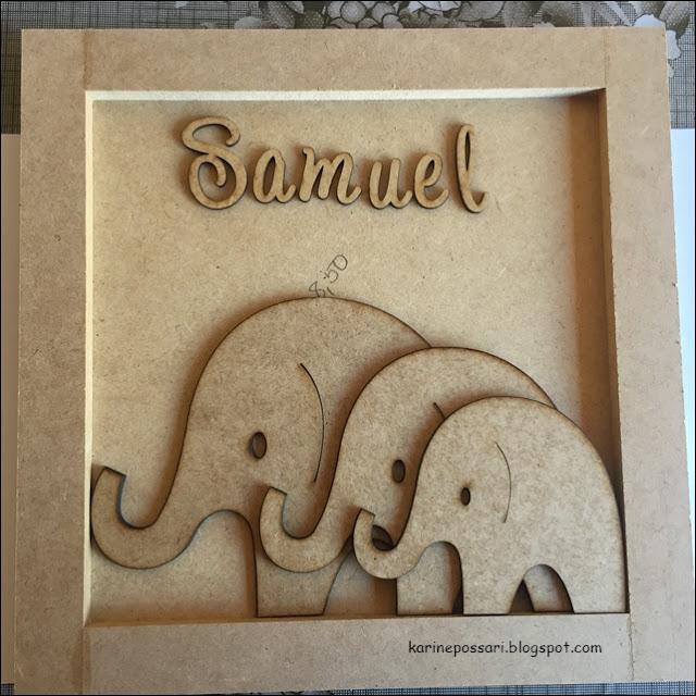 porta maternidade elefantinhos