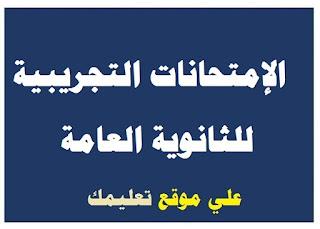 نموذج الإمتحان التجريبى للثانوية العامة 2017 في اللغة العربية من موقع وزارة التربية والتعليم