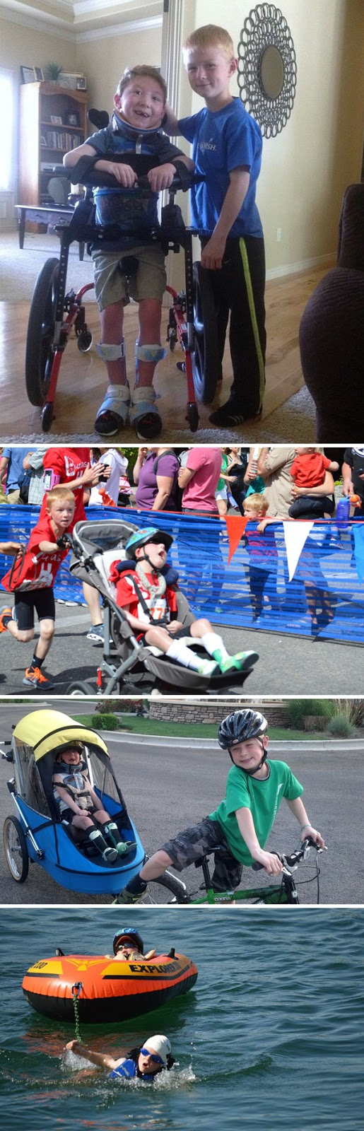 #1 8-Year-Old Noah Completes Mini-Triathlon With His Disabled Brother Lucas - 12 Kids Who'll Restore Your Faith In Humanity