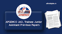 APGENCO JAO Previous Papers