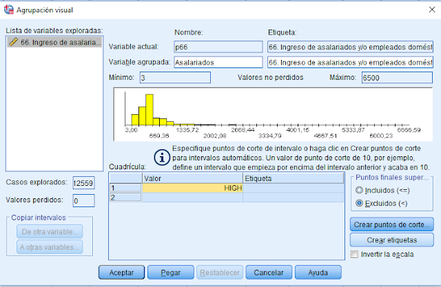 SPSS - Tabla de frecuencias