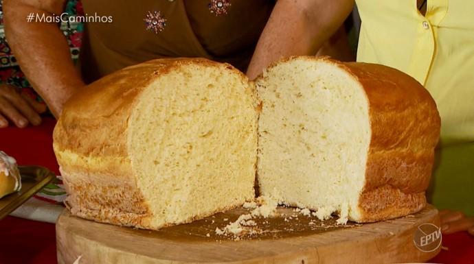 Pão caseiro diferente e saboroso