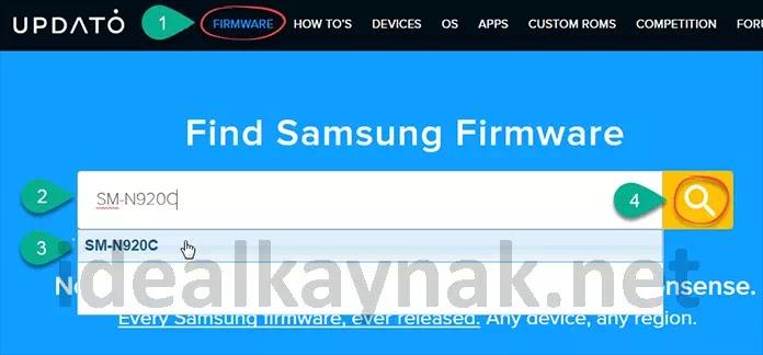 UPDATO Samsung Telefonlar için Stock ROM indirme