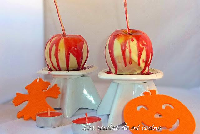 Manzanas de Halloween