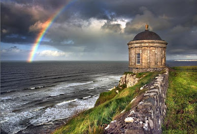 rainbow over the ocean, Irish rainbow, ireland, irish prayer, irish quote