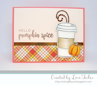 Hello Pumpkin Spice card-designed by Lori Tecler/Inking Aloud-stamps and dies from Right at Home