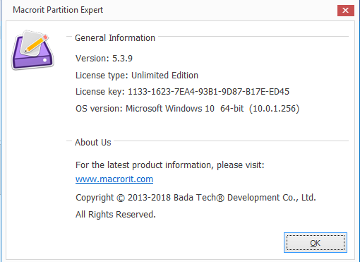 برنامج  Macrorit Partition Expert 5.3.9