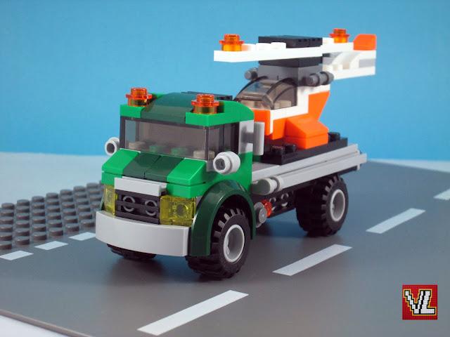 Set LEGO Creator 31043 Chopper Transporter - Modelo 1 - Chopper Transporter