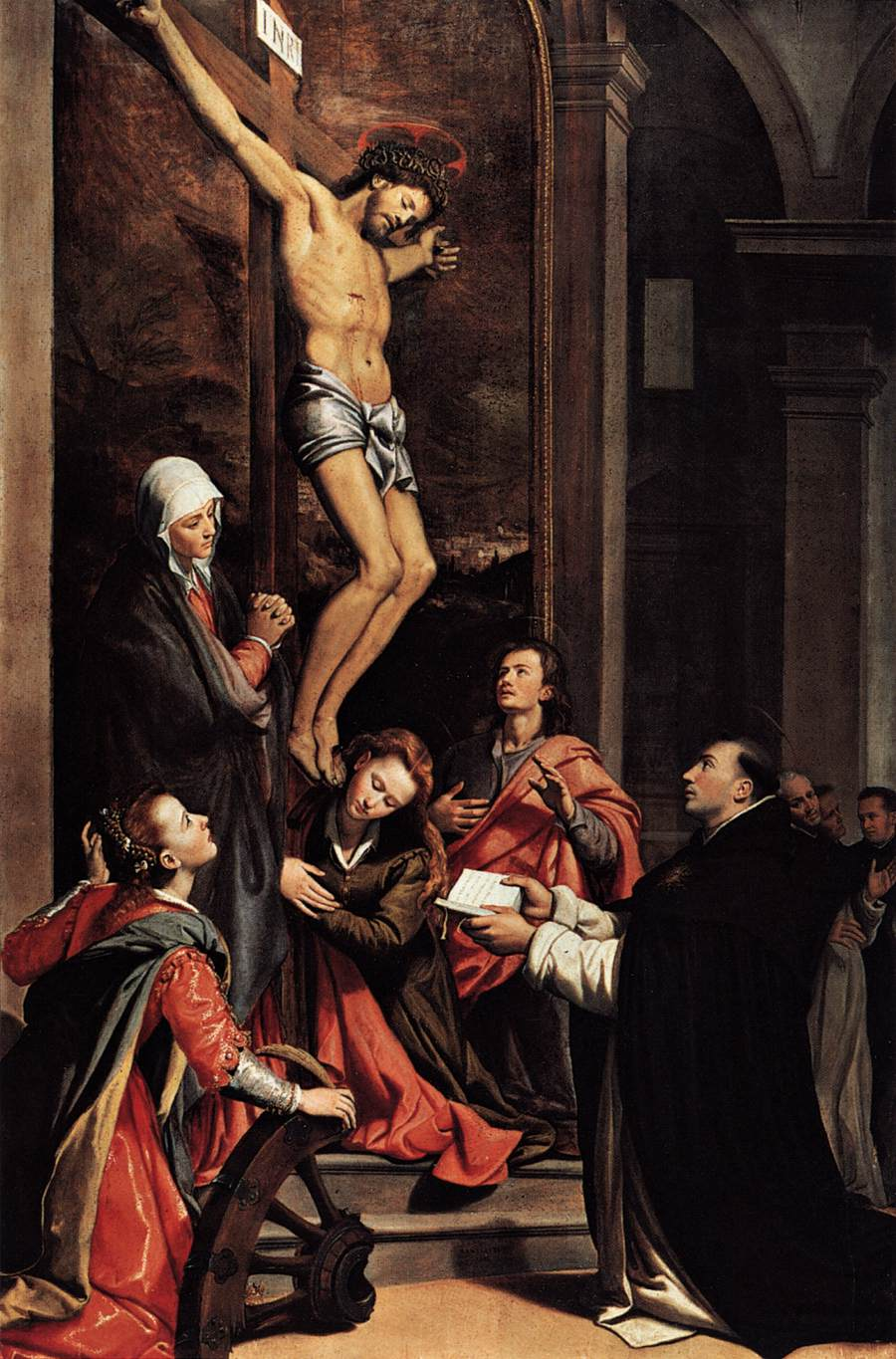 new liturgical movement the feast of st thomas aquinas the vision of saint thomas by santi di tito in the church of san marco one of the two n churches in florence