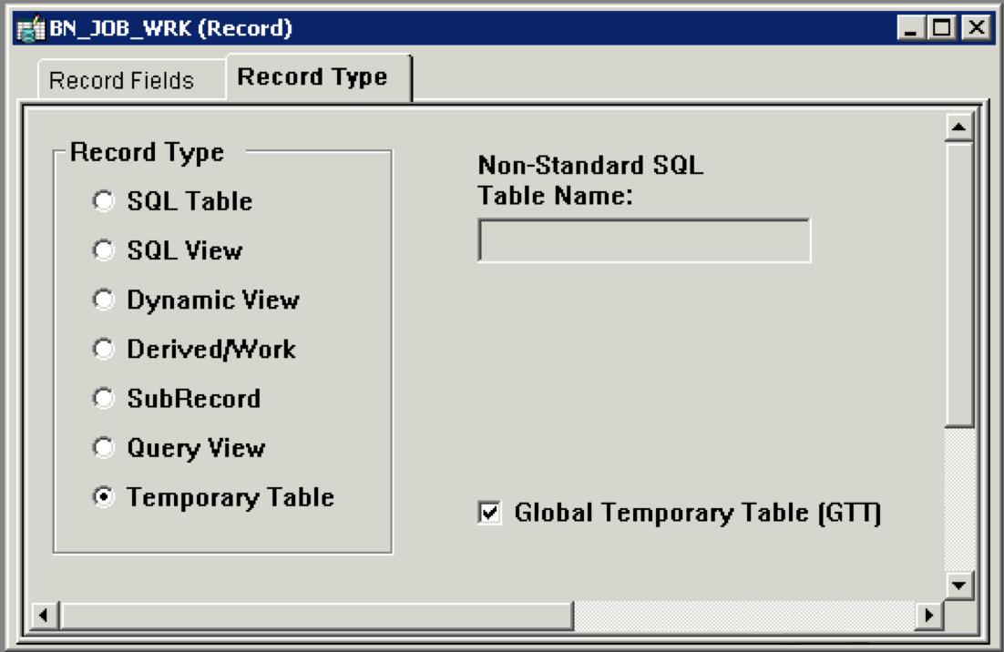Javier's PeopleSoft blog: Using Global Temporary Tables in