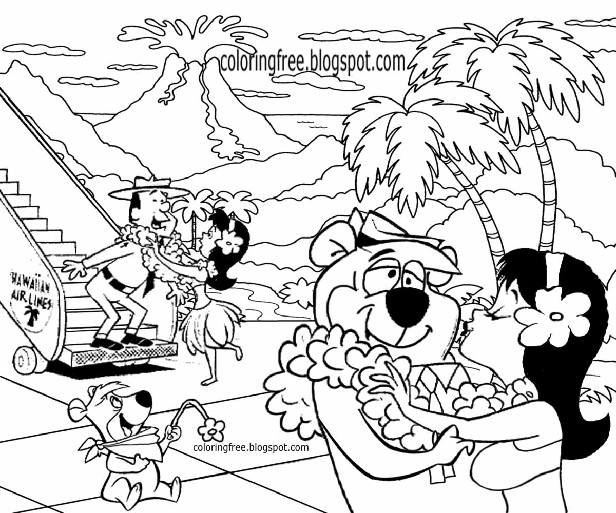yellowstone park ranger smith yogi bear camp resort best holiday hawaii coloring pages for us kids