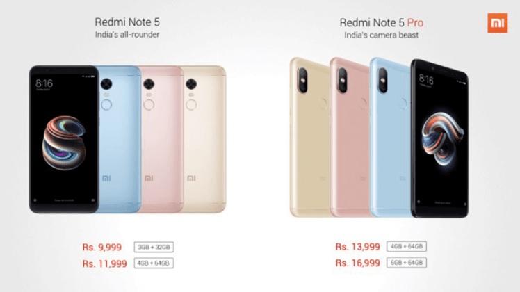 Xiaomi Unveils Redmi Note 5, Note 5 Pro