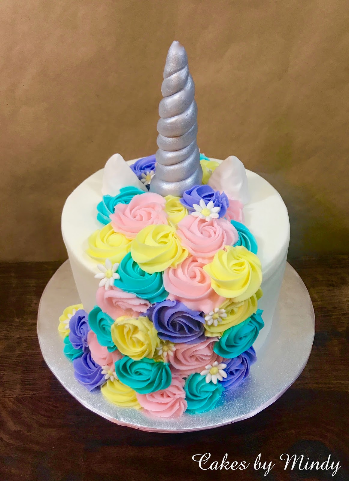 Cakes By Mindy Pastel And Silver Unicorn Cake 8 And