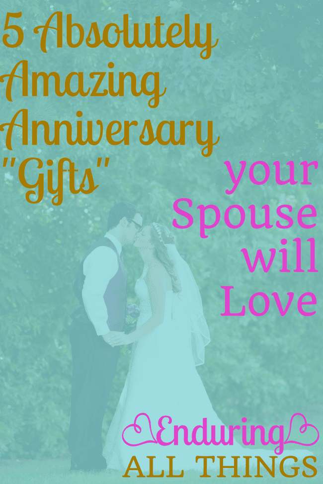 """A lot of people don't put a lot of effort into their anniversary. They grab an easy or expensive gift and think that's good enough. Well I think you should spend more time and effort in making your spouse feel special and less money on gifts they won't love. So here's what they really want for your anniversary: 5 Absolutely Amazing Anniversary """"Gifts"""" your Spouse will Love!"""