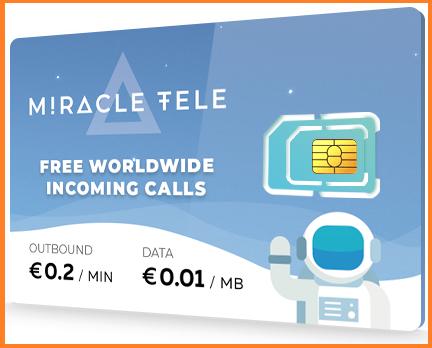 احصل على SIM CARD لاول شبكه اتصالات تعمل عبر عمله رقميه miracletele
