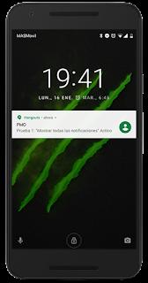 Mostrar notificaciones en la pantalla de bloqueo