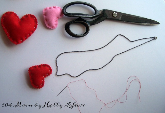 Valentines Necklace DIY