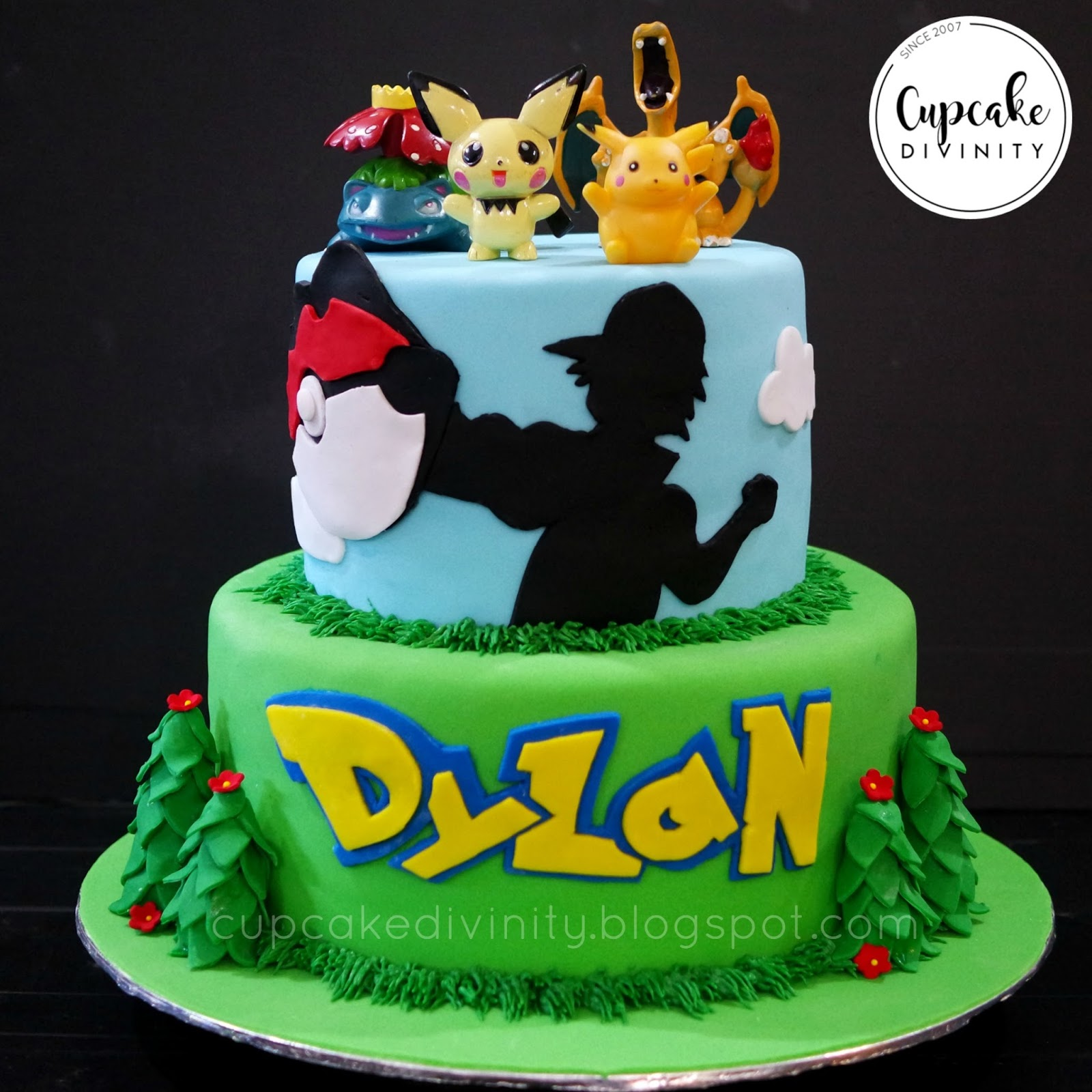 ideas for 3 month old baby boy pictures - Cupcake Divinity Pokemon 2 Tier Cake