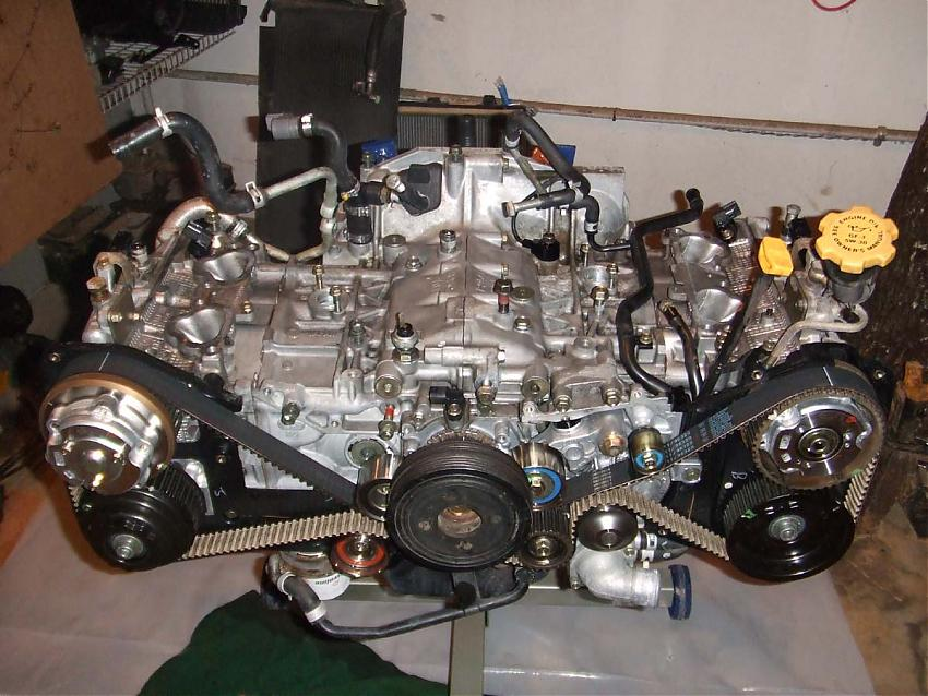 The legendary Subaru EJ boxer engine