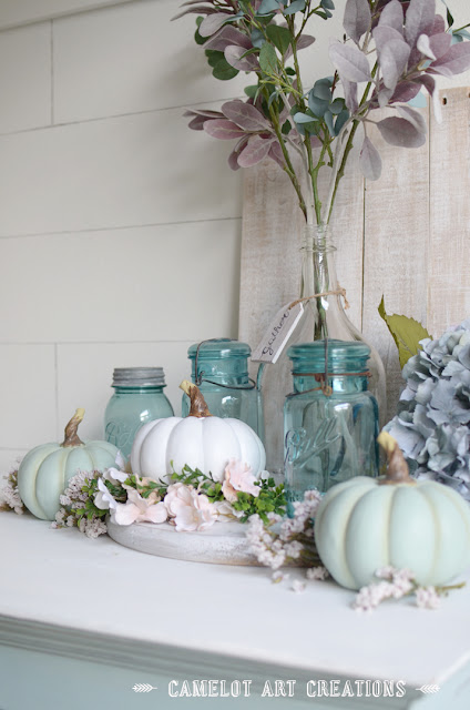 shabby chic fall decor