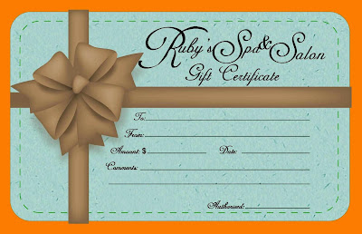 Editable Salon Gift Certificate Template Mkioa