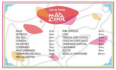 Mad Cool, Festival, 2016, Madrid, Guía Práctica, cartel, precios, bebida