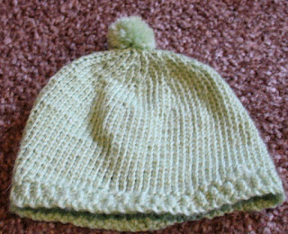 green baby hat