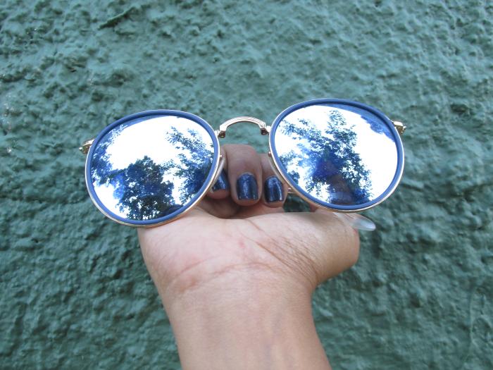 ray ban, round gold Blue, óticas aliança, óculos ray ban