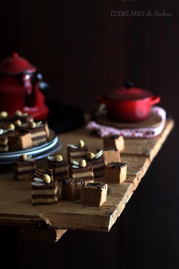 Bombón cremino de Turrón y Doble Praliné. Cookcakes de Ainhoa