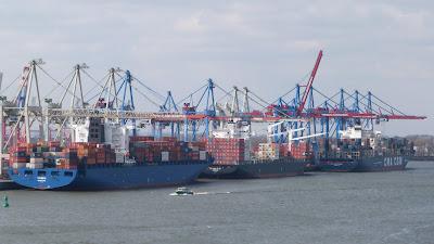 Containerschiffe Hamburg