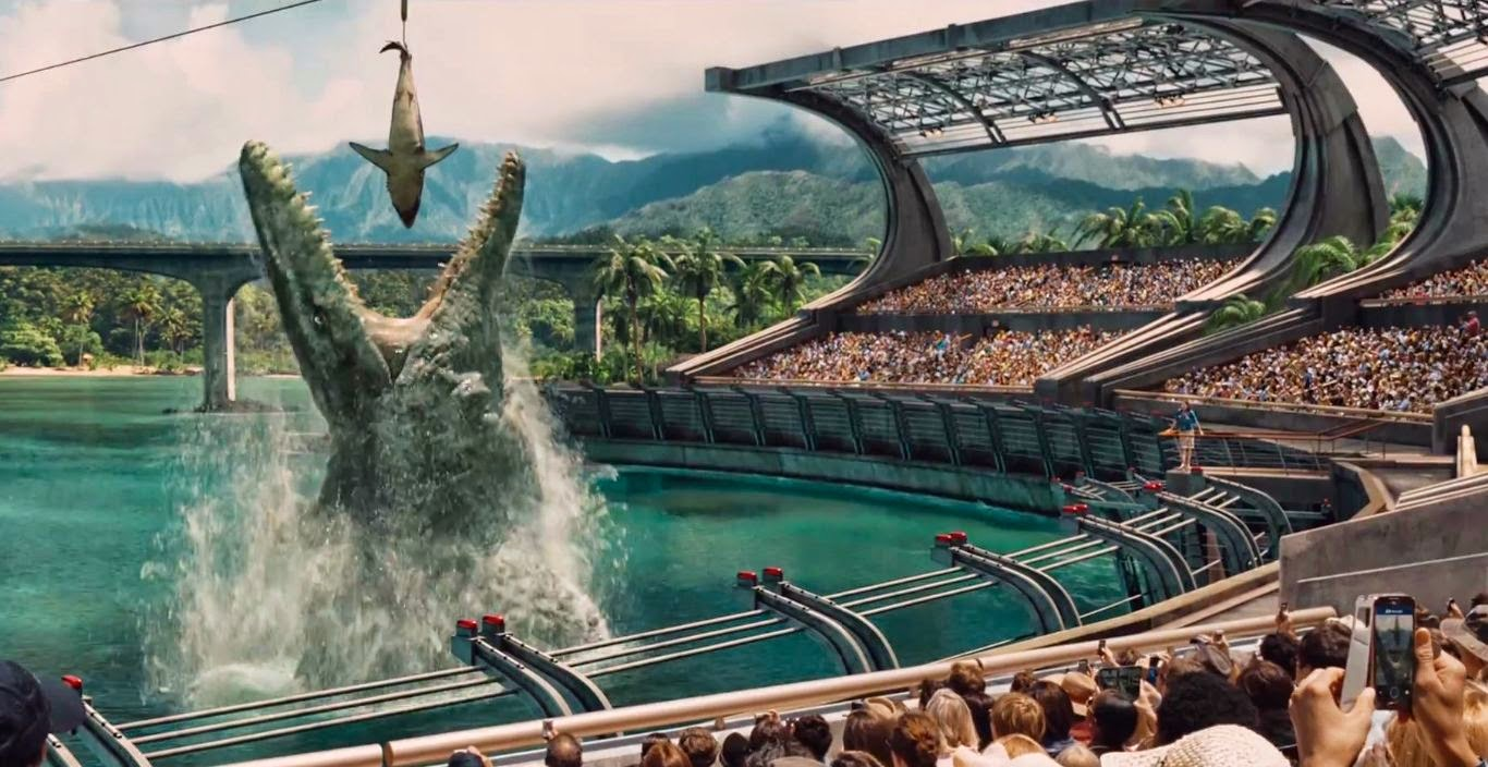 film, movie, dinosaurus, Jurassic World, gambar, images, foto, indominus rex, mosasaurus
