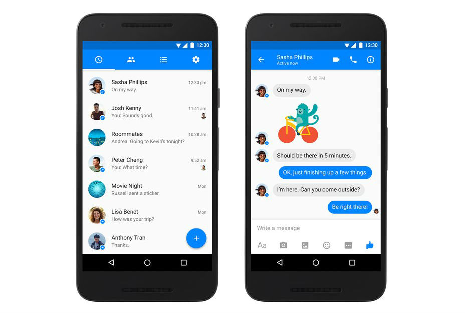 Facebook Messenger Updated With New Material Design