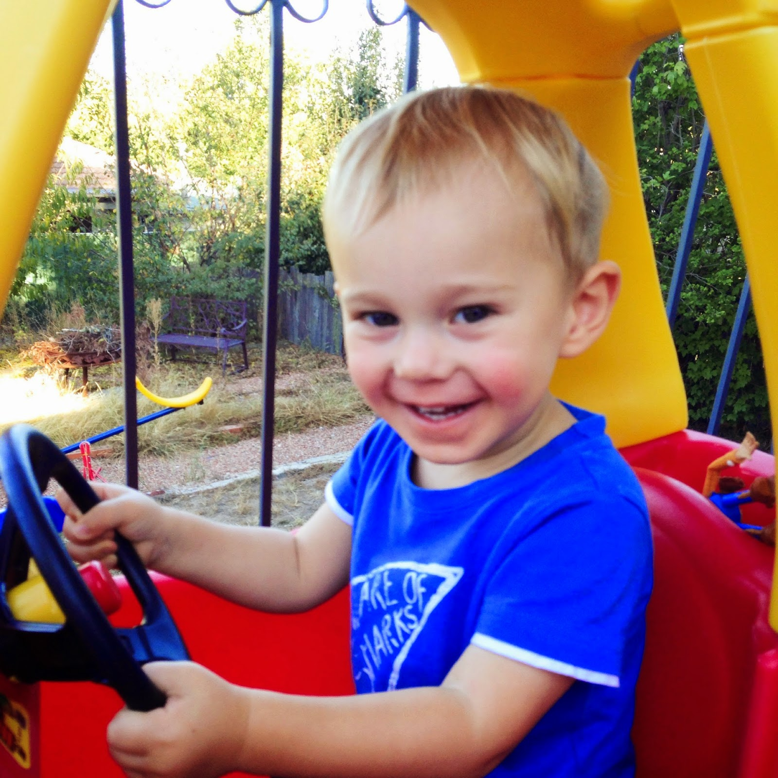 Max driving the car