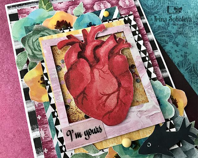 открытка ручной работы на день всех влюбленных