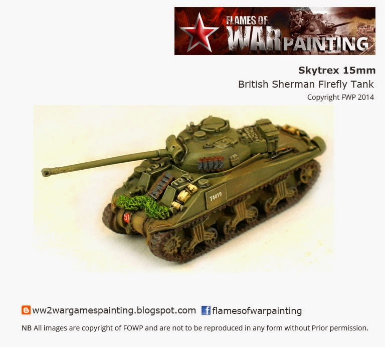 WW2 15mm British Firefly SKYTREX painted by FOWP