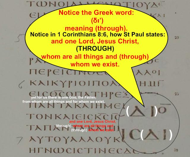 1 Corinthians 8:6. John 1:7. Codex Vaticanus.