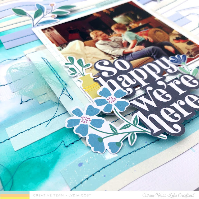 Citrus Twist Kits Life Chapters 12 x 12 Scrapbook Layout - Lydia Cost